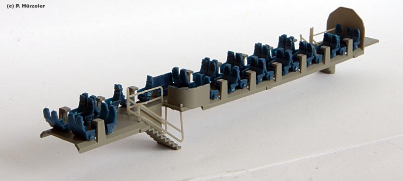 aménagements intérieurs de l'IC2000 Hobbytrain